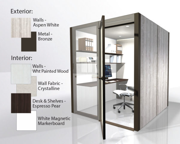 theHUB Office Pod - Aspen White with White Interior 1