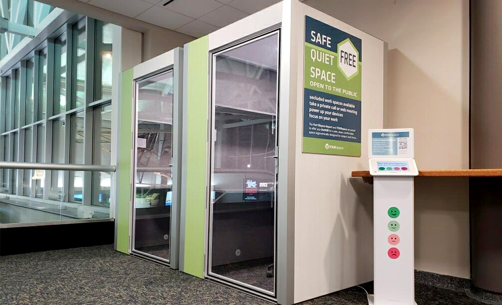 YOURspace Installs Work Pods in the Fort Wayne Airport